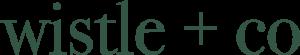 wistle + co logo green furniture store in Kingsland
