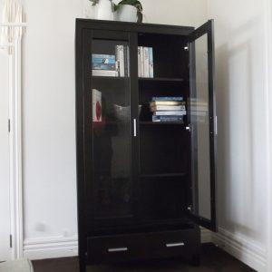 Black wood cabinet secondhand