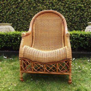 second hand Cane armchair