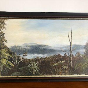 noeline grant painting of new zealand bush