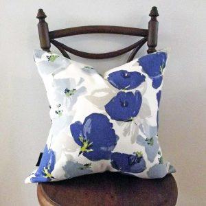 ROMO Blue Floral Cushion