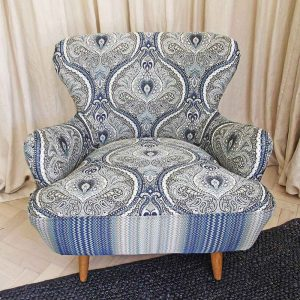 Upcycled Missoni chair front