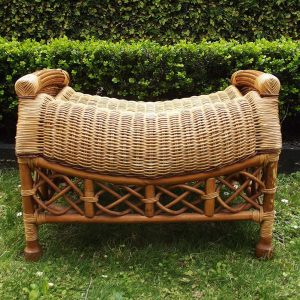 cane footstool secondhand