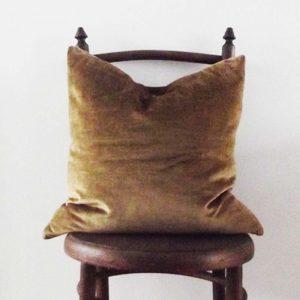 Vintage Gold velvet cushion