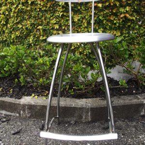 metal bar stool front