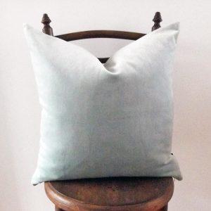 Edgewood blue velvet cushion