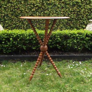 Spindle leg antique table