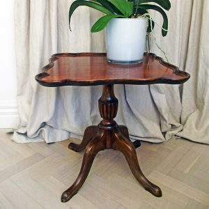 square wooden table vintage