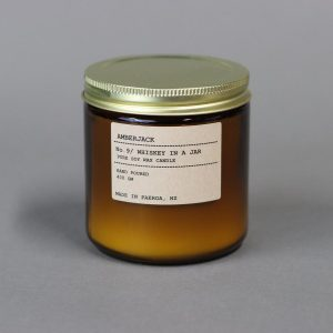 NZ made Amber Jack candle Large Whiskey in a jar