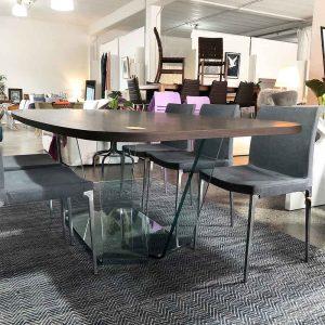 Designer Italian glass dining table