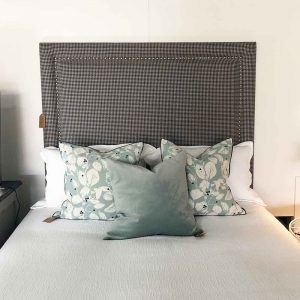 NZ Made studded headboard by wistle and co