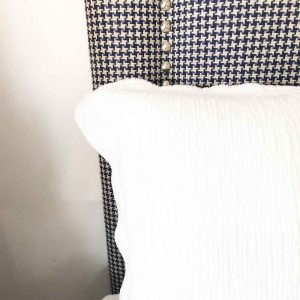 Portuguese linen ripple white bedcover
