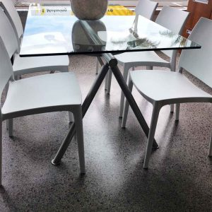 Secondhand cross leg dining table