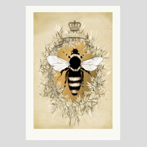 Marika Jones artist queen bee print