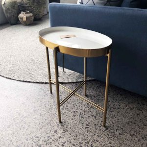 New brass & lacquer side table