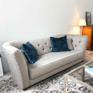 Secondhand Italian made Butterfly 3 seater sofa