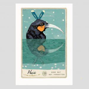 Marika Jone artist Huia bird print