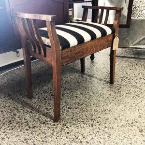 Secondhand stripe piano stool