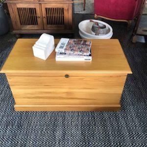 Secondhand kauri tea chest table