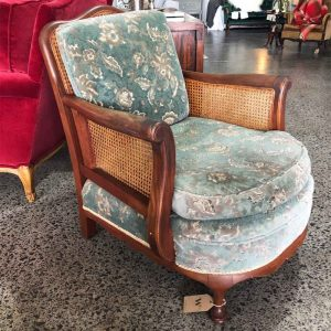 Vintage Curved rattan chair