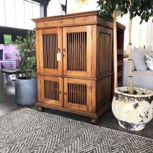 secondhand Balinese slat wood unit