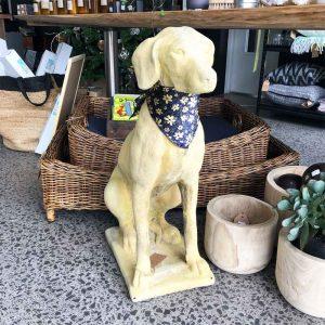 vintage large stone dog