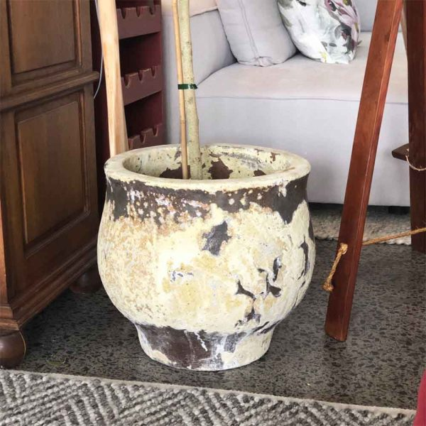 Hand made antique yellow pot