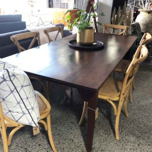 NZ made secondhand Beech dining table