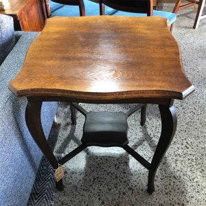 Secondhand antique oak lamp table