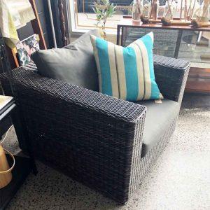 secondhand outdoor wicker chair