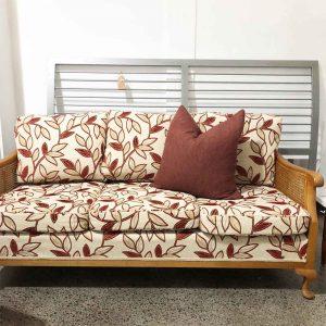 secondhand 50's style retro rattan sofa
