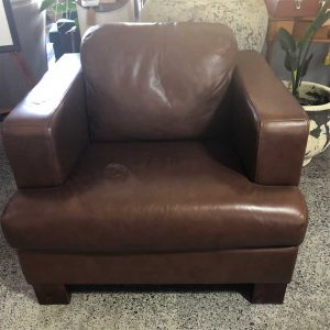 chocolate brown leather chair NZ made