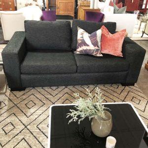 black textured NZ made sofa