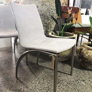 grey suede matisse chair