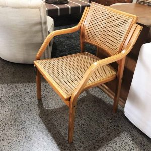 rattan back and seat designer desk chair