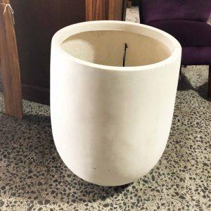 white palm pot made form poly fibrestone resin