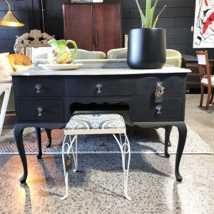 black chalk painted dressing table