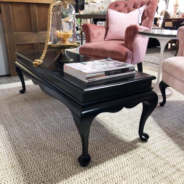 black satin mahogany coffee table