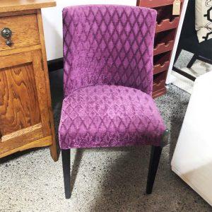 purple velvet dining chair