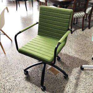 green wool desk chair