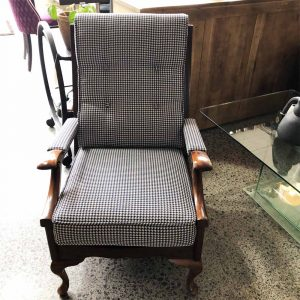 navy houndstooth chair