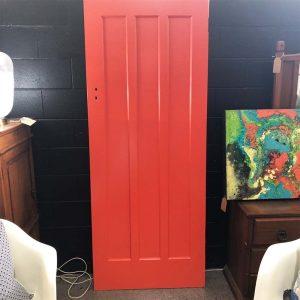 orange lacquer kauri door