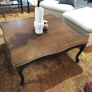 ornate leg square coffee table