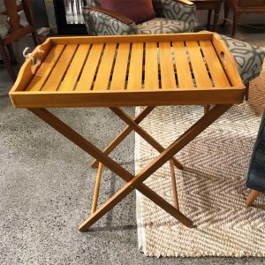 pine lacquer butlers tray table