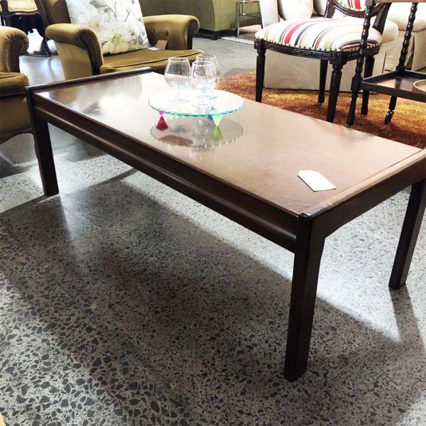 retro coffee table side view