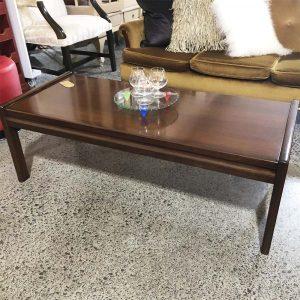 retro 70's wood coffee table