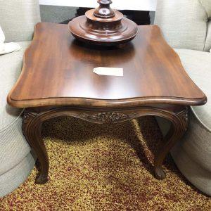 ornate leg small square side table