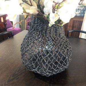 black woven Bali basket