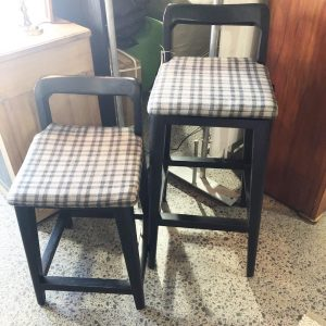 high and low black barstools