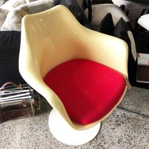cream tulip chair